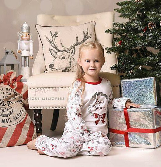 Personalised Kids Christmas Pyjamas