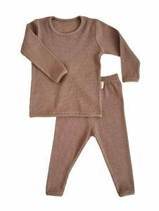Biscuit Ribbed Loungewear