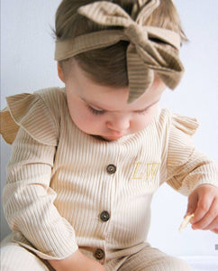 Ribbed Romper with Headtie