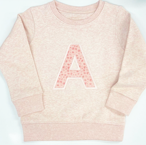 Rose Blush Applique Sweater