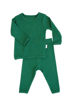 Load image into Gallery viewer, Forest Green Ribbed Loungewear