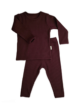 Load image into Gallery viewer, Aubergine Ribbed Loungewear
