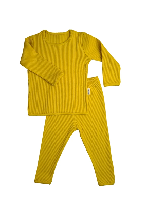 Mustard Ribbed Loungewear