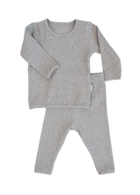 Load image into Gallery viewer, Dove Grey Ribbed Loungewear