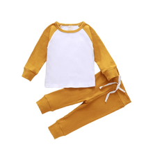 Load image into Gallery viewer, Mustard Ribbed Panel Loungewear
