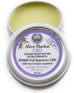 200mg Full Spectrum CBD Body Butter (Lavender)