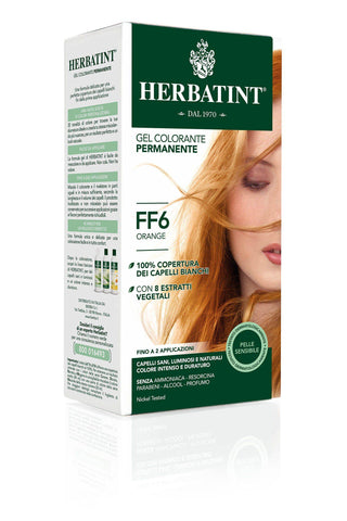 Herbatint Tintura Capelli Gel Permanente FF6 Orange (150 ml) tinta per capelli Antica Erboristeria