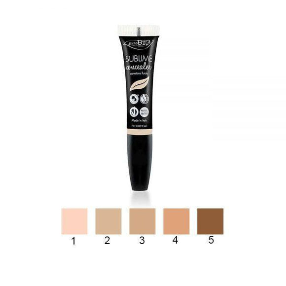 SUBLIME Correttore Fluido 5 Tonalità correttore make up puroBIO cosmetics