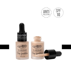 Sublime Drop Foundation 14 Tonalità fondotinta puroBIO cosmetics