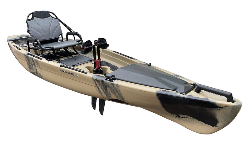Breakwater 12 Kayak - Sand Camo - Pedal Drive Package