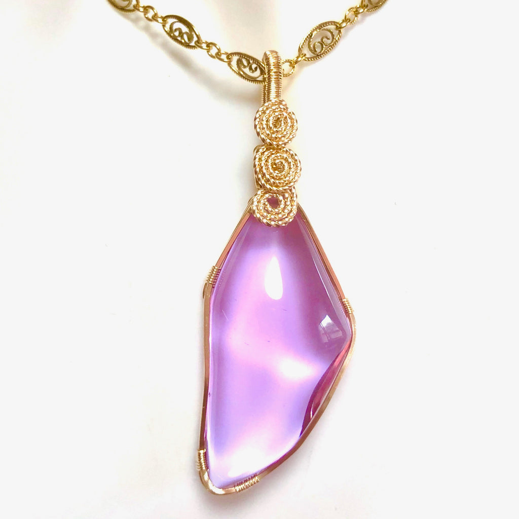 Ruby lavender quartz Special Phoenix jewelry ~Piece of the universe ~
