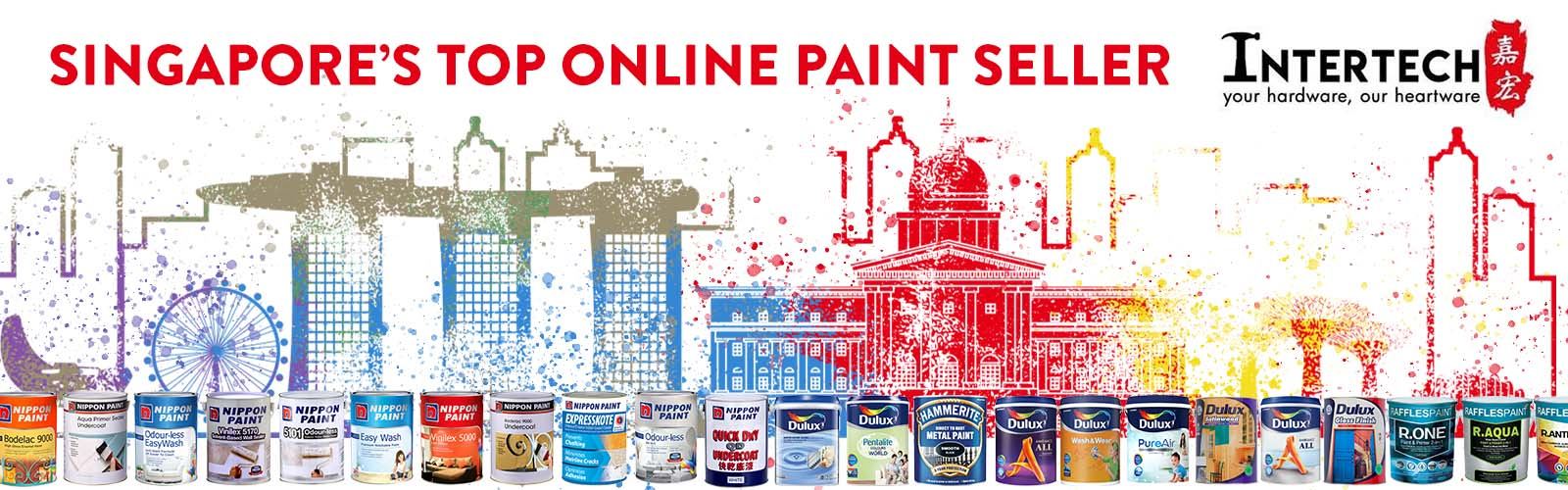 Intertech Paint Shop - home of best selling paints Nippon Paint, Raffles Paint and Dulux