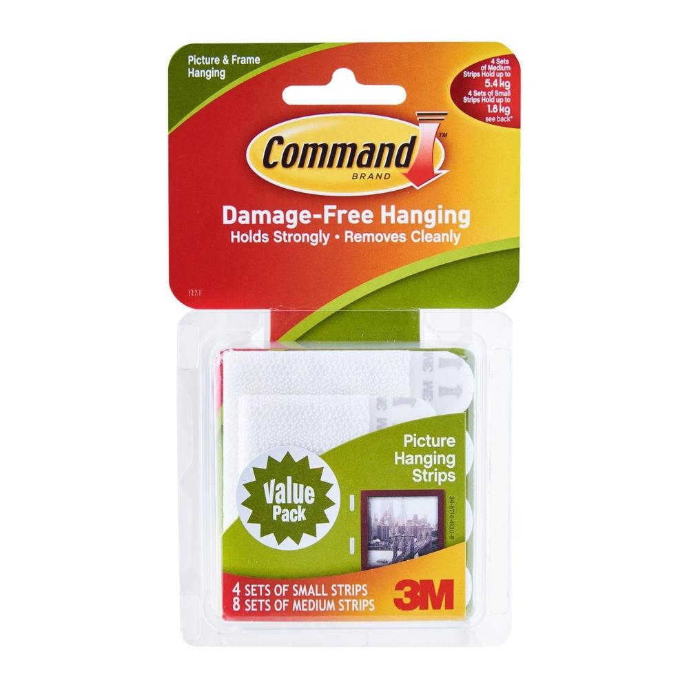 3M Command Medium Picture Hanging Strips Value Pack (17204VP-9PK)