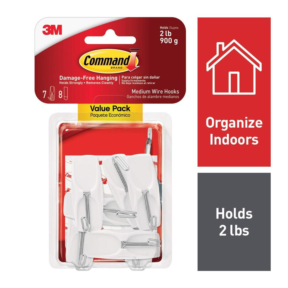 3M Command Medium Wire Hook Value Pack (17065-VPES)