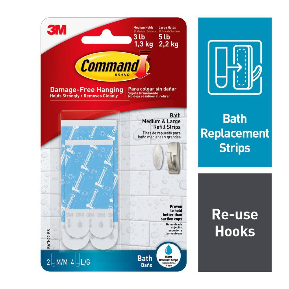 3M Command Assorted Water Resistant Strips (BATH22-ES)