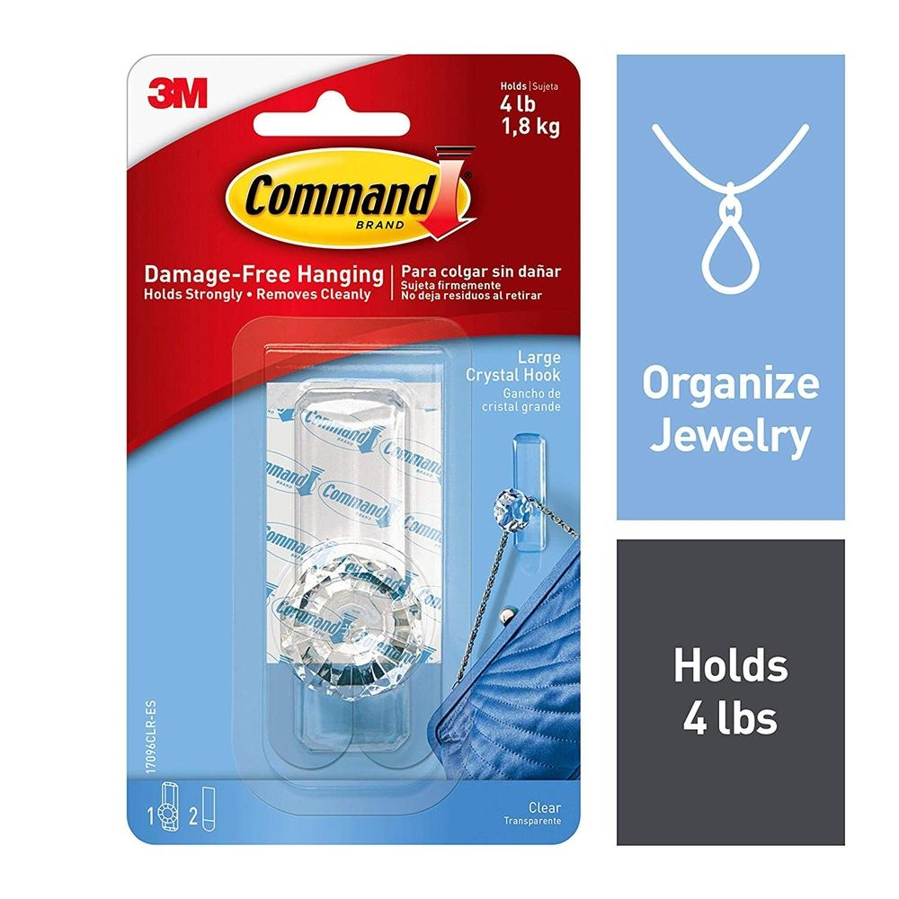 Featured Product Photo for 3M Command Clear Large Crystal Hook
