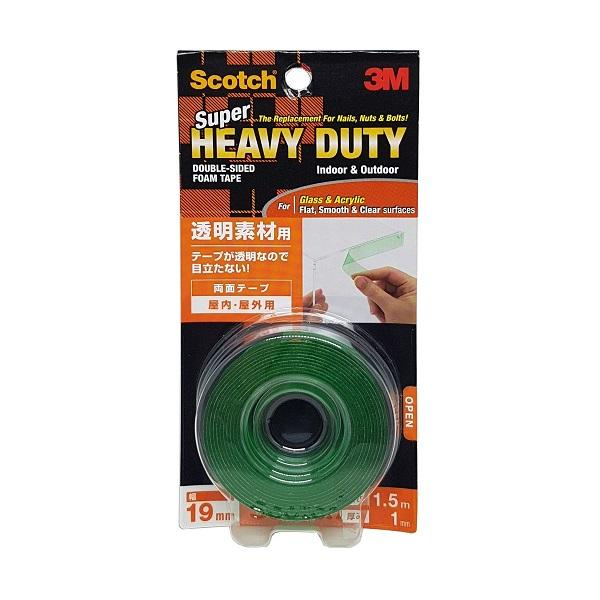 Photo of 3M Scotch Super Heavy Duty Tape 19mm X 1.5m (Clear)