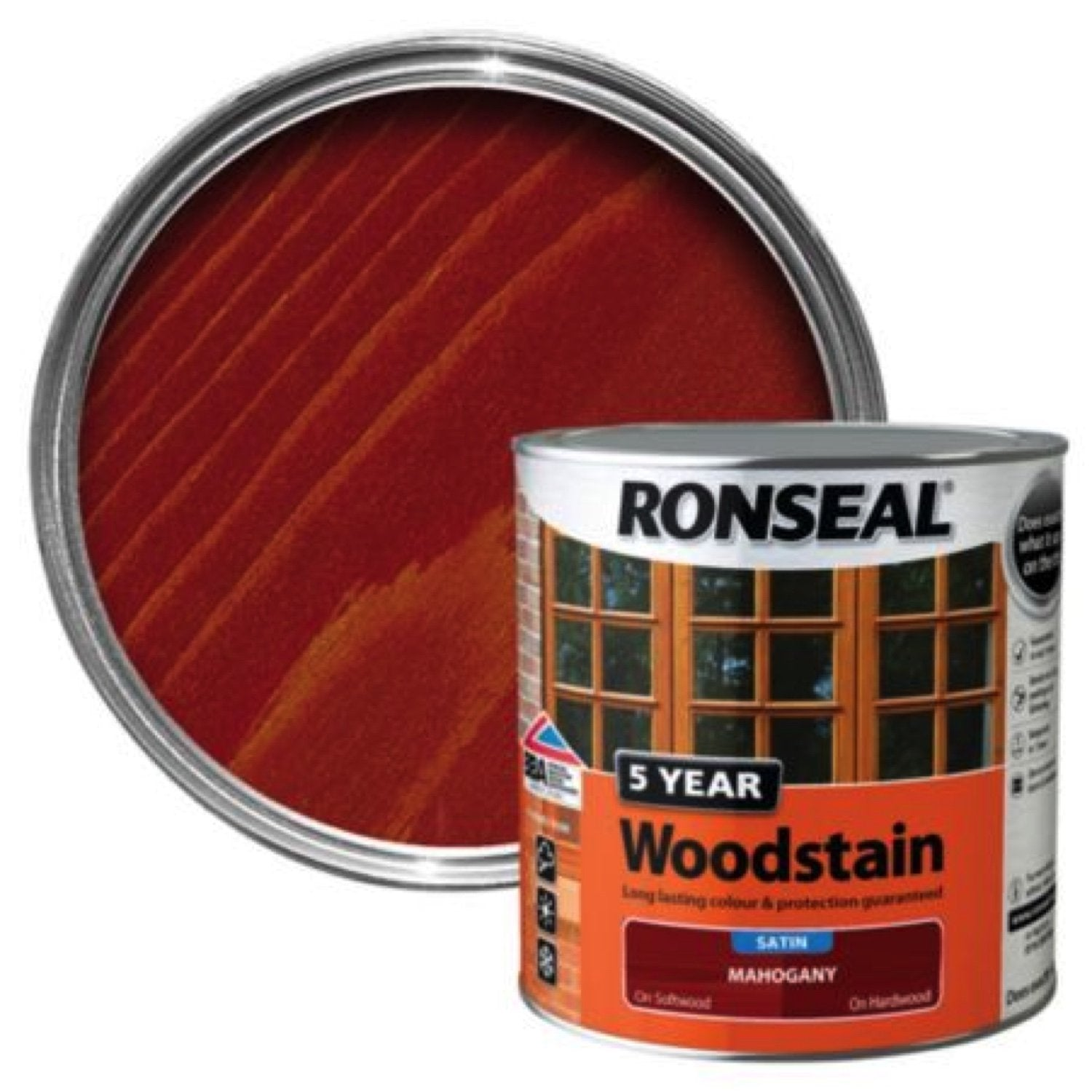Photo of Ronseal 5Yr Woodstain Deep Mahogany 750ml