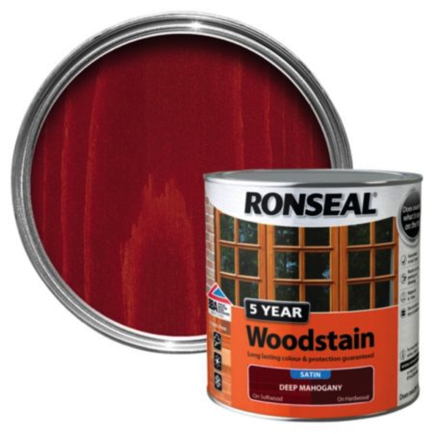Photo of Ronseal 5Yr Woodstain Deep Mahogany 250ml