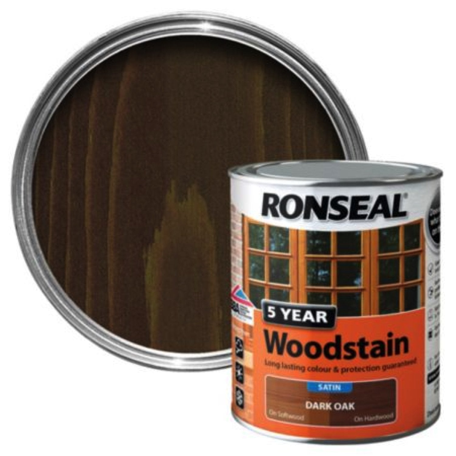 Photo of Ronseal 5Yr Woodstain Dark Oak 250ml