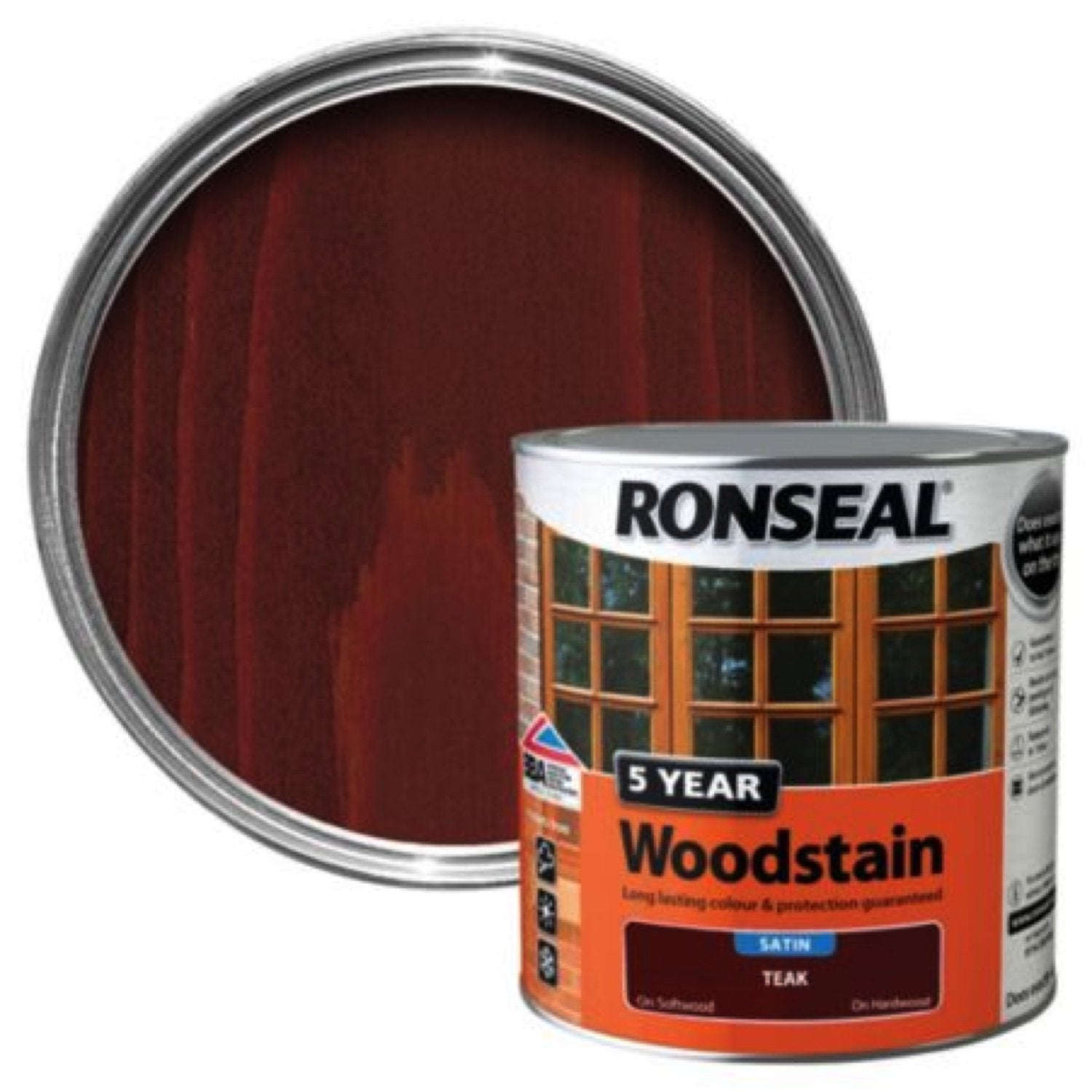 Photo of Ronseal 5Yr Woodstain Teak 250ml