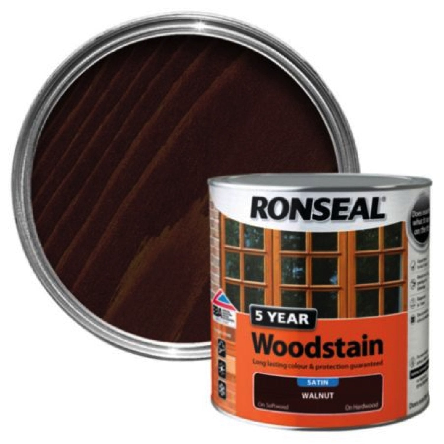 Photo of Ronseal 5Yr Woodstain Walnut 250ml