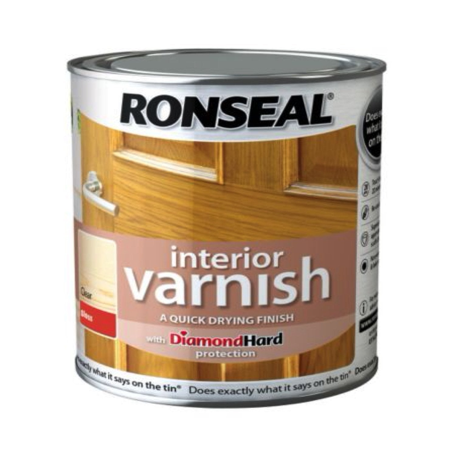 Photo of Ronseal Interior Varnish Clear Satin 250ml