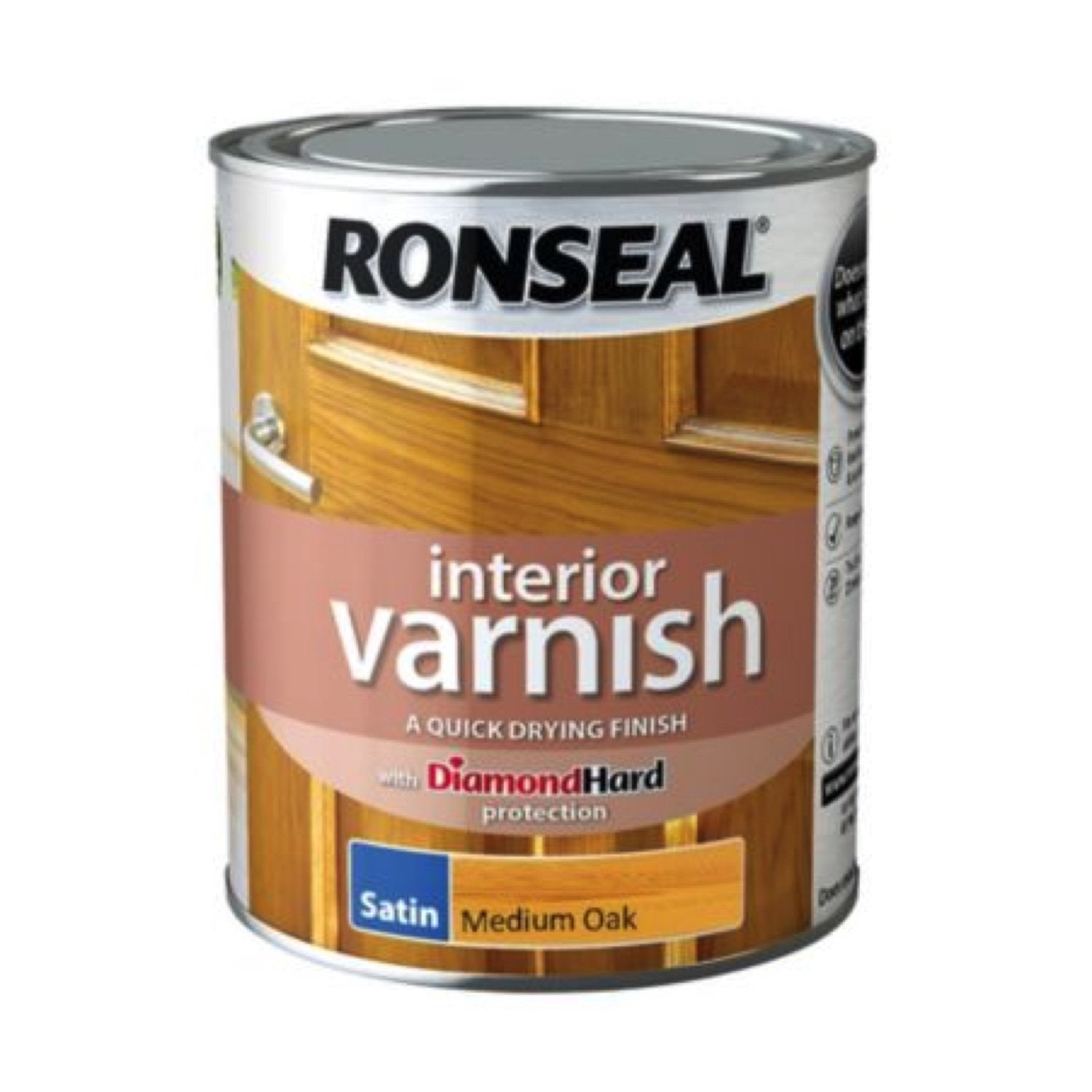 Photo of Ronseal Interior Varnish Medium Oak Satin 250ml