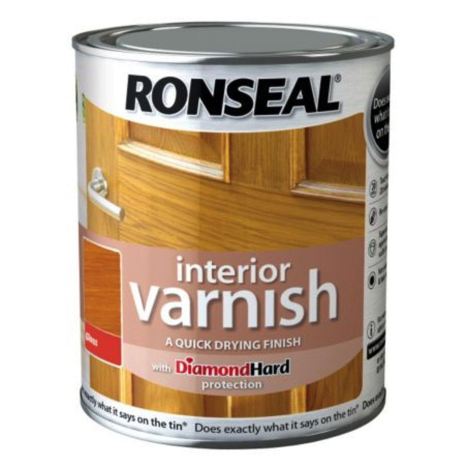 Photo of Ronseal Interior Varnish Antique Pine Satin 750ml