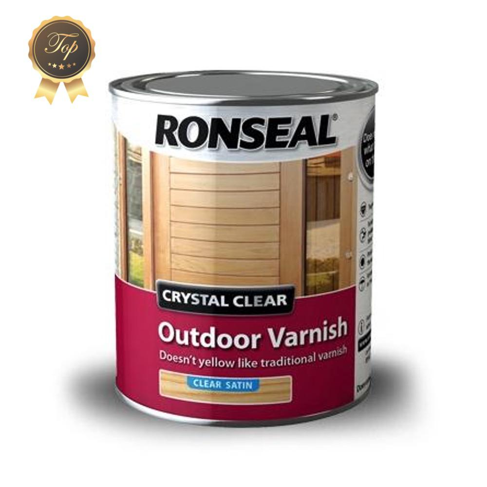 Photo of Ronseal Crystal Clear Outdoor Varnish Satin 250ml