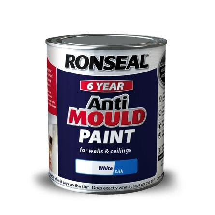 Photo of Ronseal Anti Mould Paint Matt White 750 ml