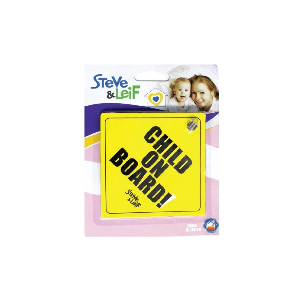 S&L Baby On Board Car Sign W/ Suction