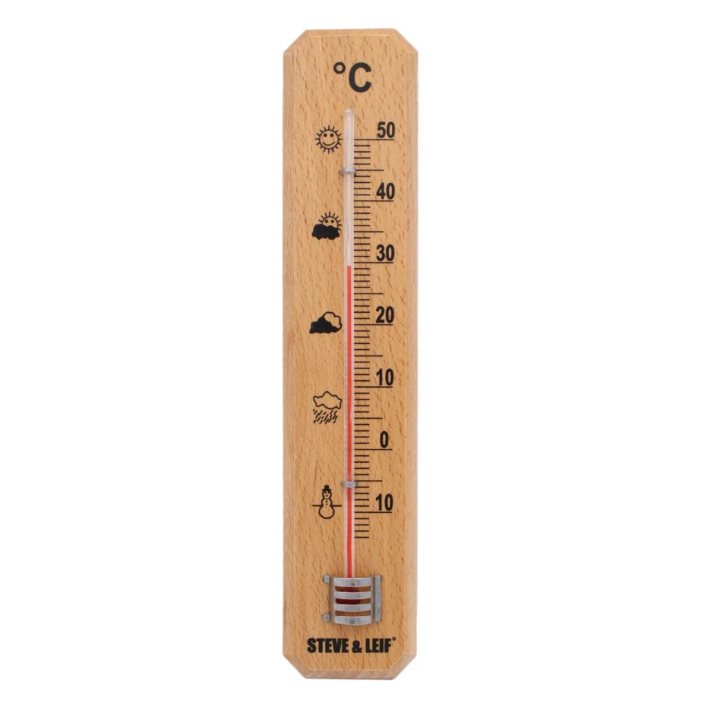 Featured Product Photo for S&L Indoor/Outdoor Wooden Thermometer