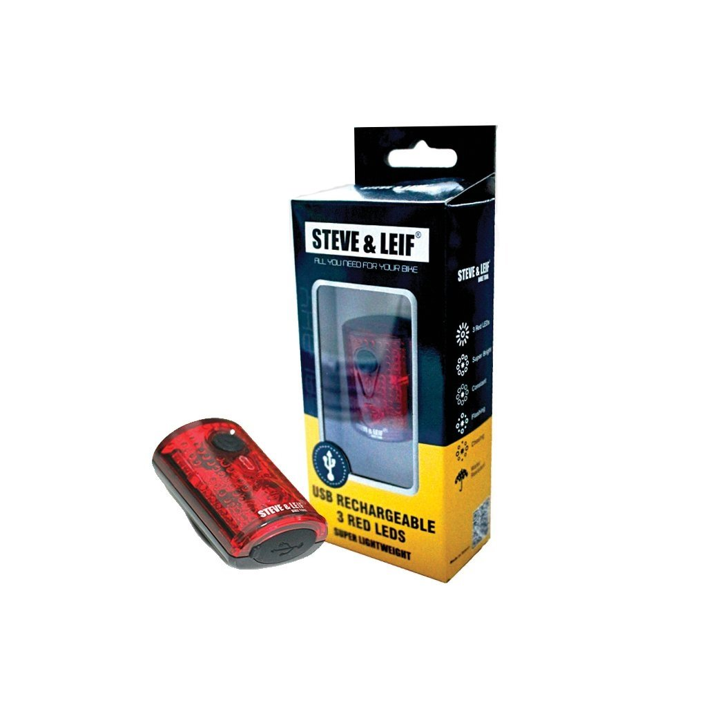 S&L Galaxy Rear USB Rechargeable LED Light Red