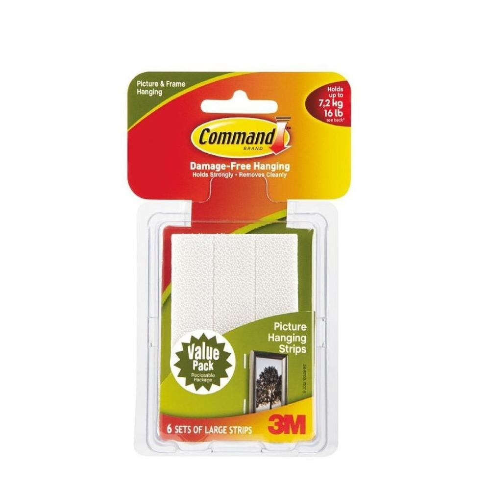3M Command Large Picture Hanging Strips Value Pack (17206VP)