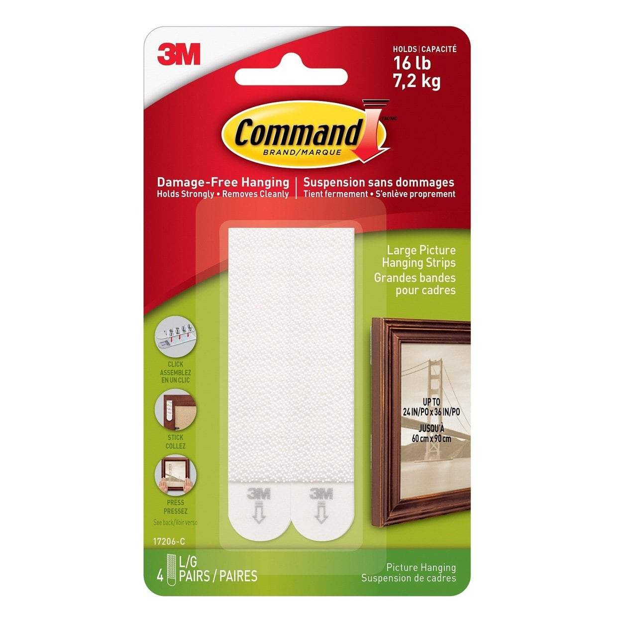 Photo of 3M Command Large Picture Hanging Strips 4 Sets