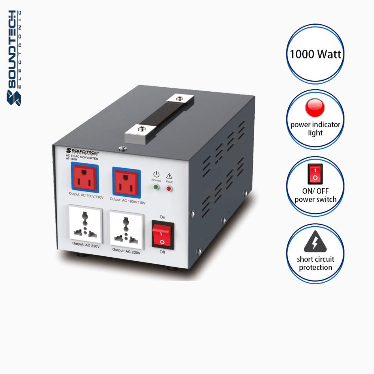 Soundteoh 1000 Watt AC-AC Converter AT-1000