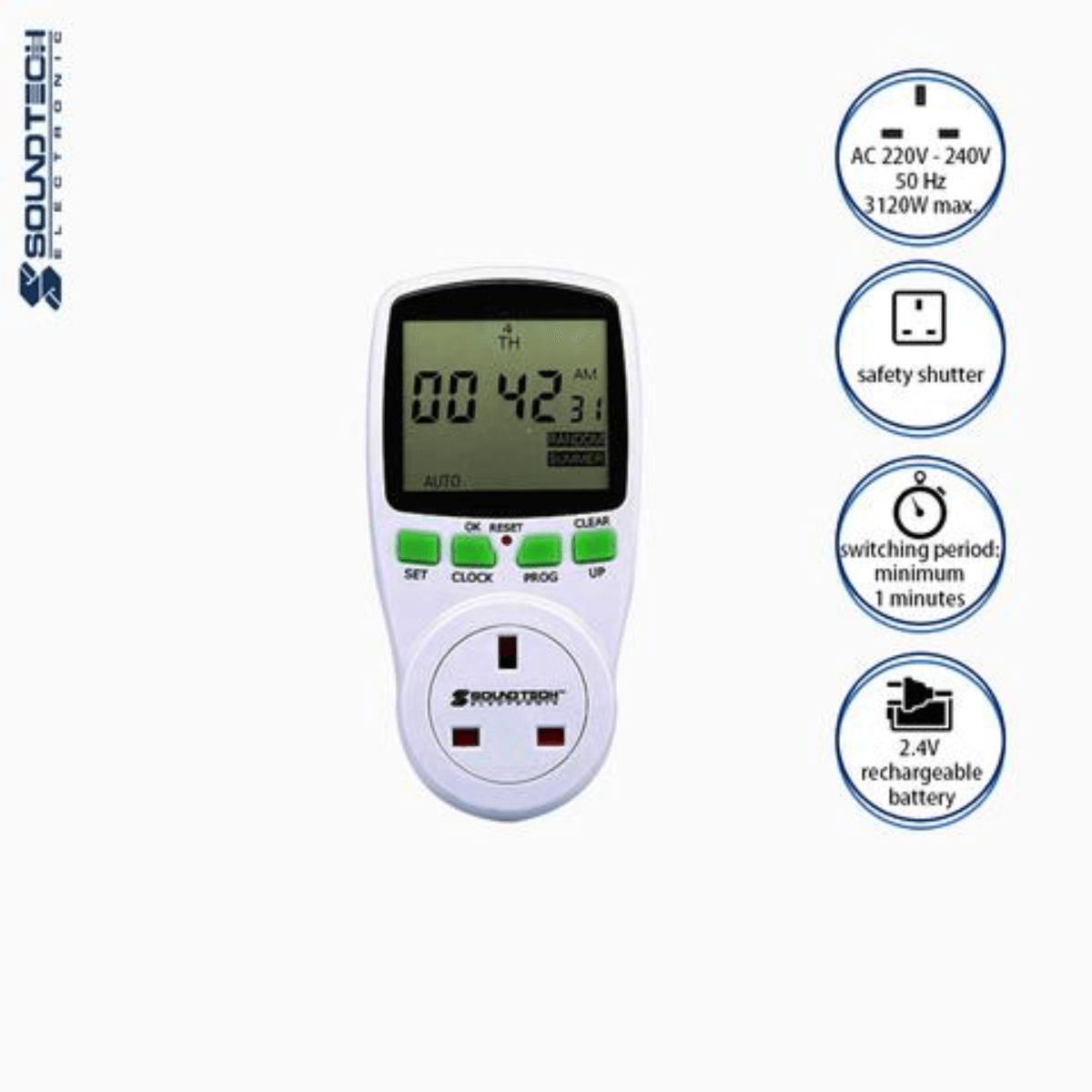 Soundteoh 13A Digital Timer DT-020