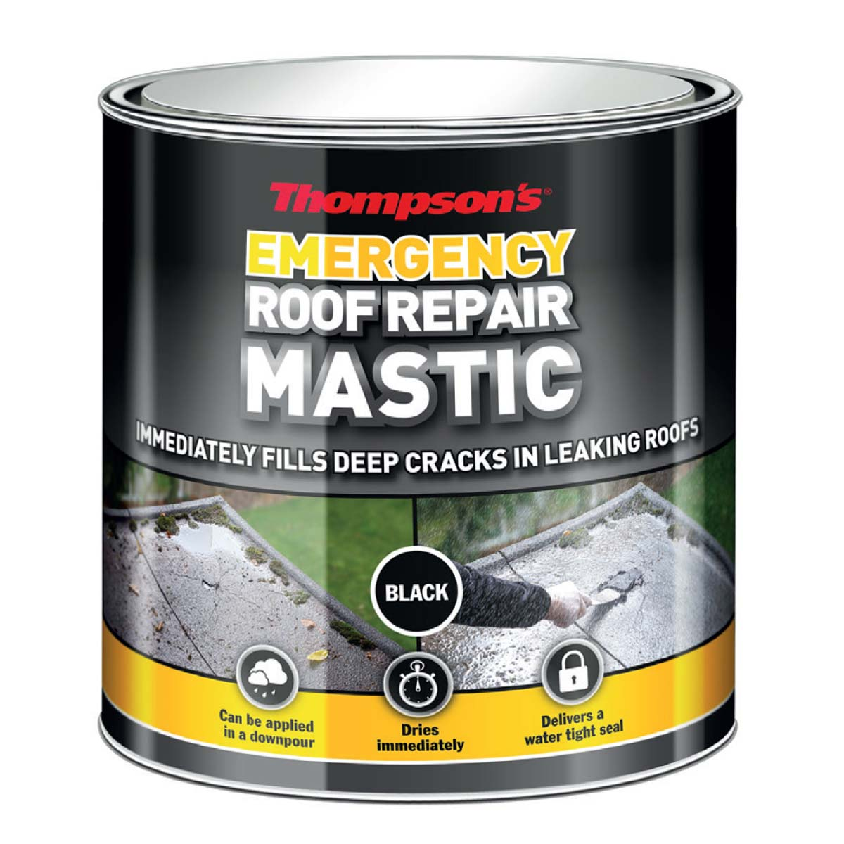 Thompson's Emergency Roof Mastic (Black) 750ml (36082)