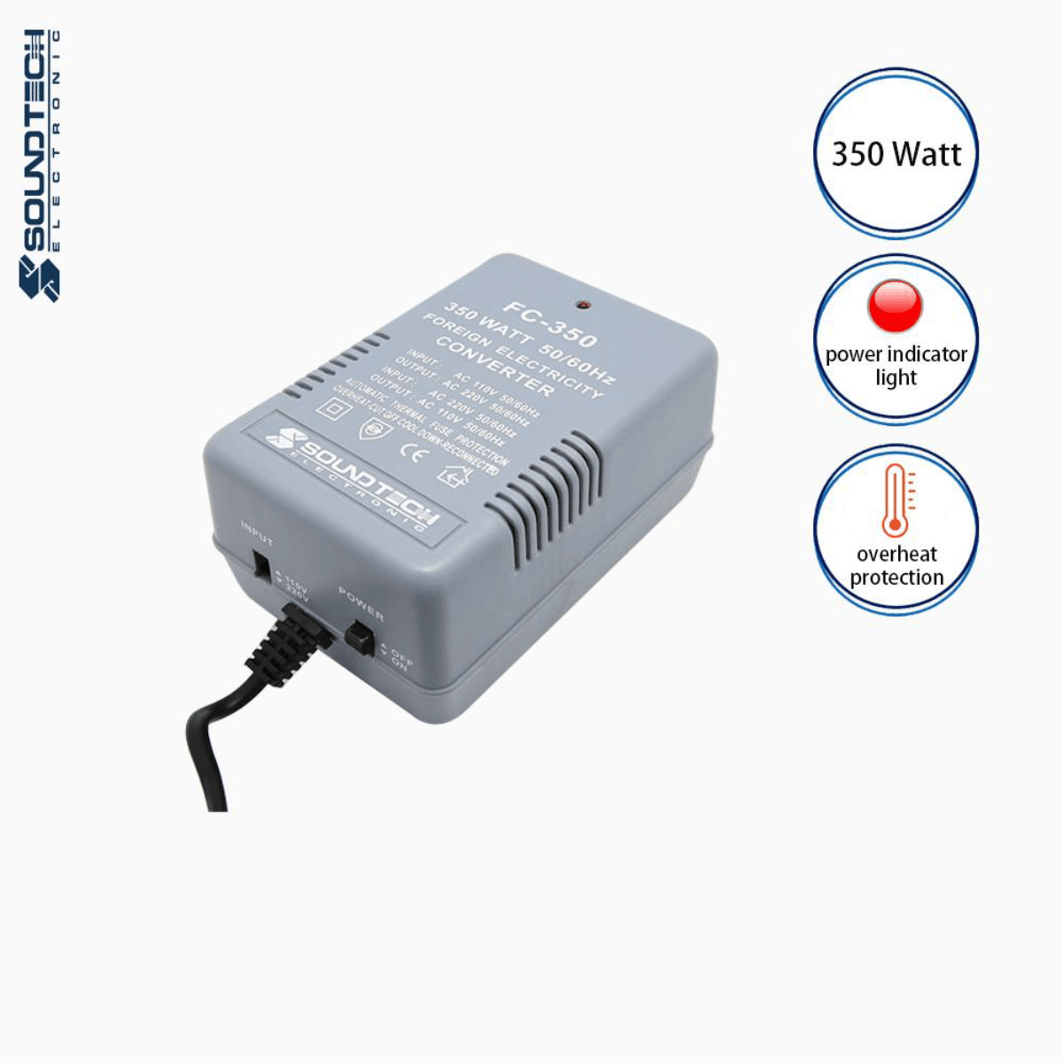 Soundteoh 350 Watt Foreign Electricity AC-AC Converter FC-350