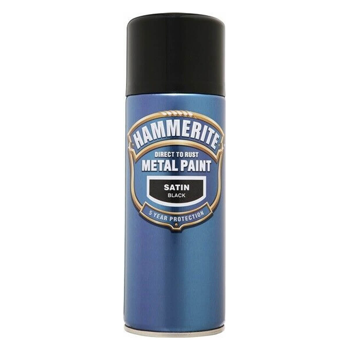 Hammerite Direct to Rust Metal Paint Aerosol Satin Finish (Black)
