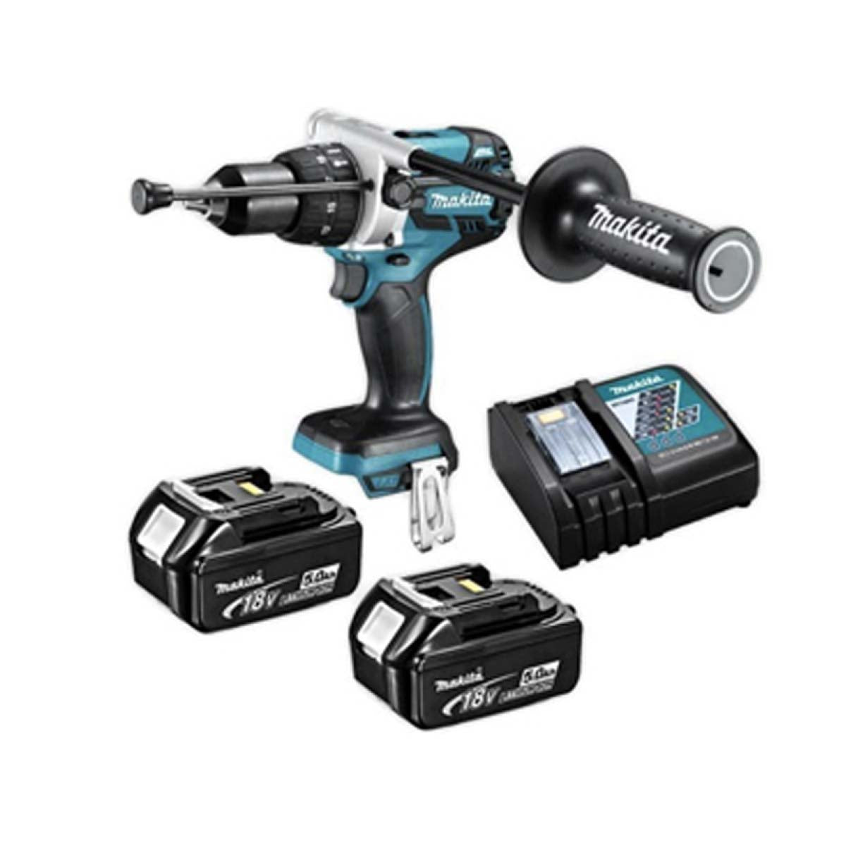 Makita Hammer Drill (SET 2x5Ah) 18V LXT Brushless (DHP481RTE)