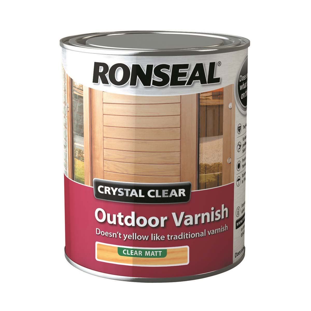 Ronseal Crystal Clear Outdoor Varnish Matt 750ml (37368)