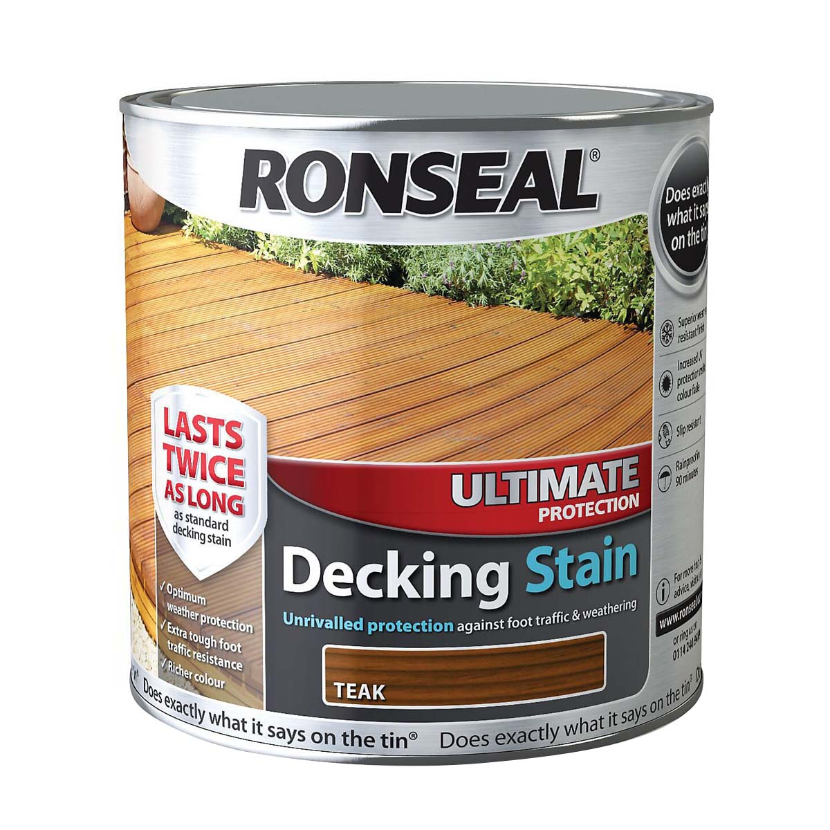 Ronseal Ultimate Protection Decking Stain Teak 2.5L (36907)