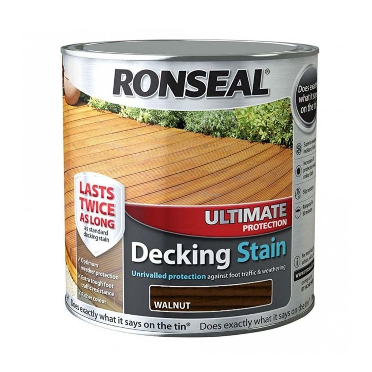 Ronseal Ultimate Protection Decking Stain Walnut 2.5L (37456)