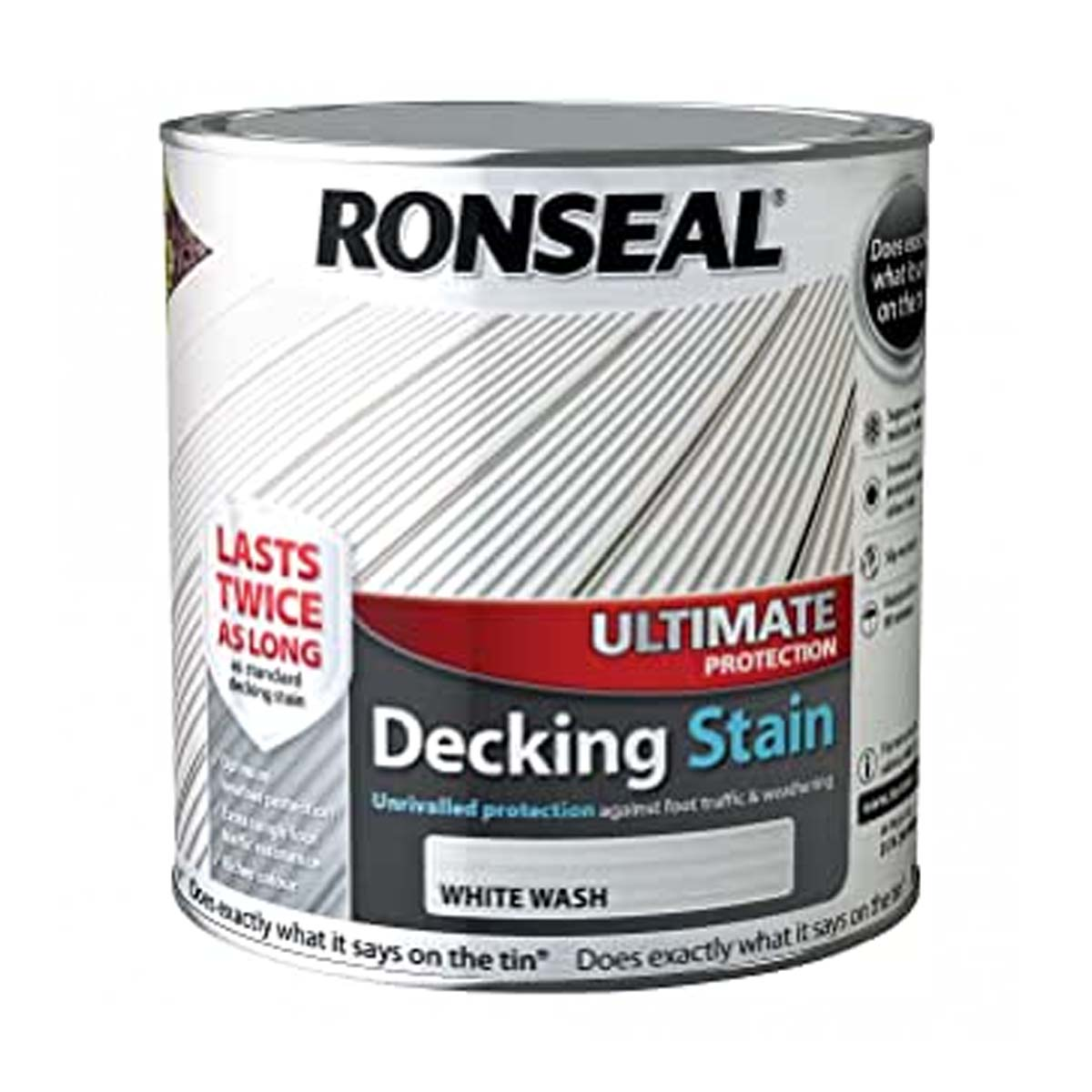 Ronseal Ultimate Protection Decking Stain White Wash 2.5L (36910)