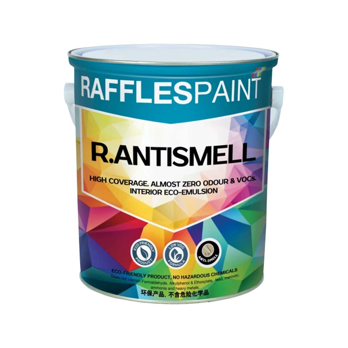 Raffles Paint  R.ANTISMELL (5L + 20L, All Popular Colours)
