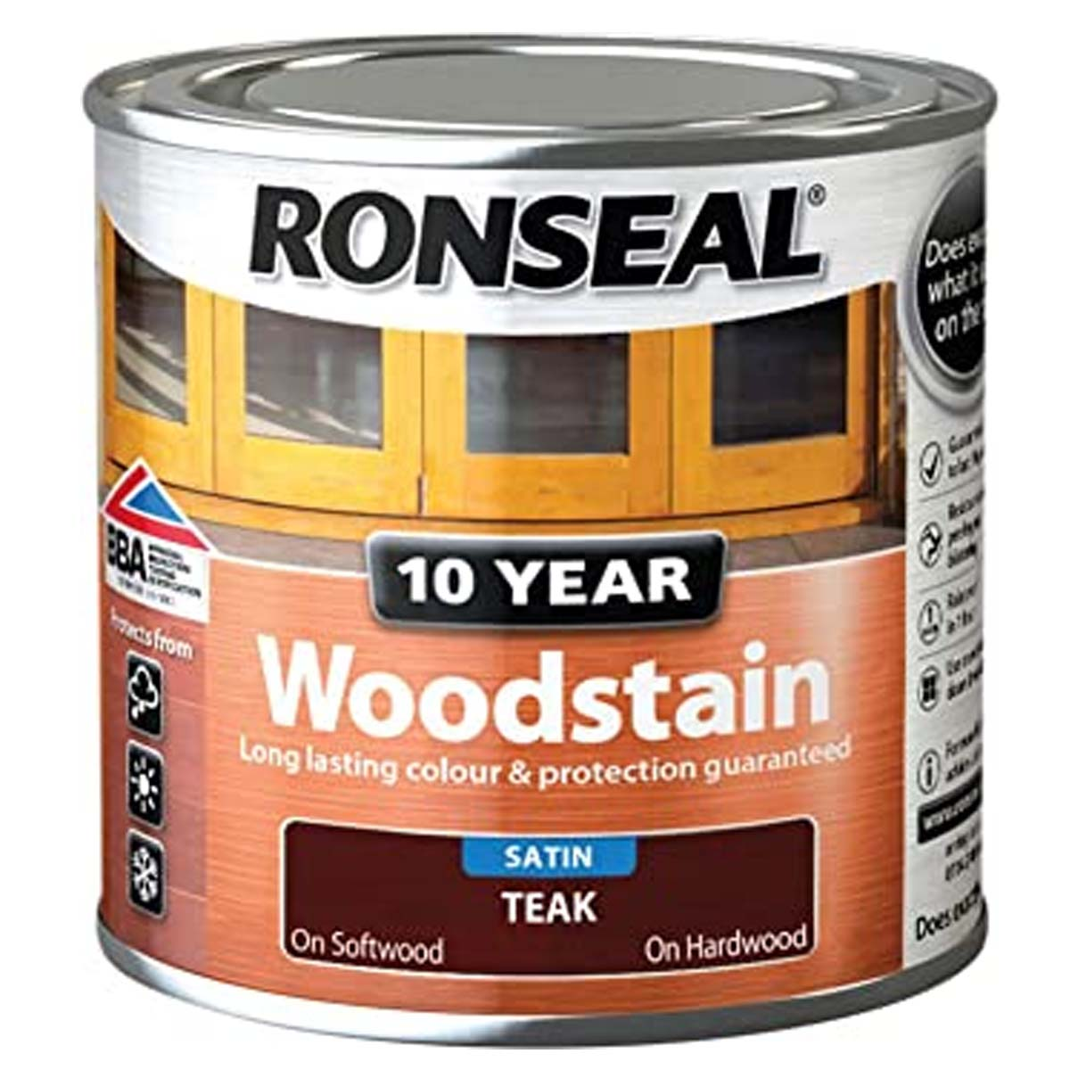Ronseal 10Yr Woodstain柚木2.5L (38692)