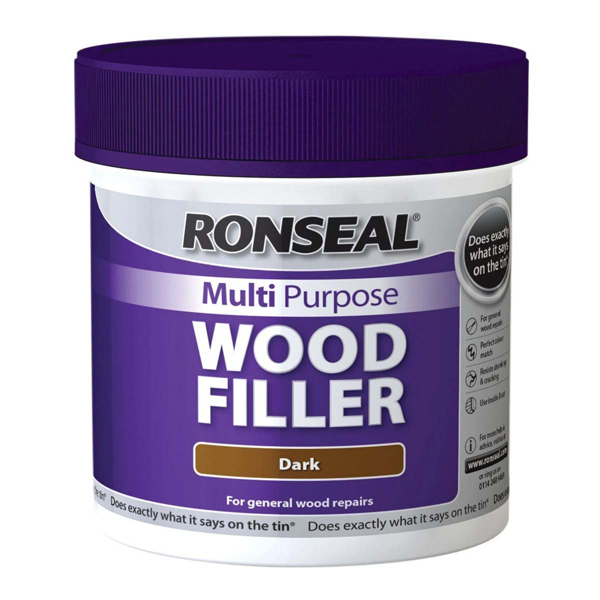 Ronseal Multi Purpose Wood Filler Dark 250G (34738)
