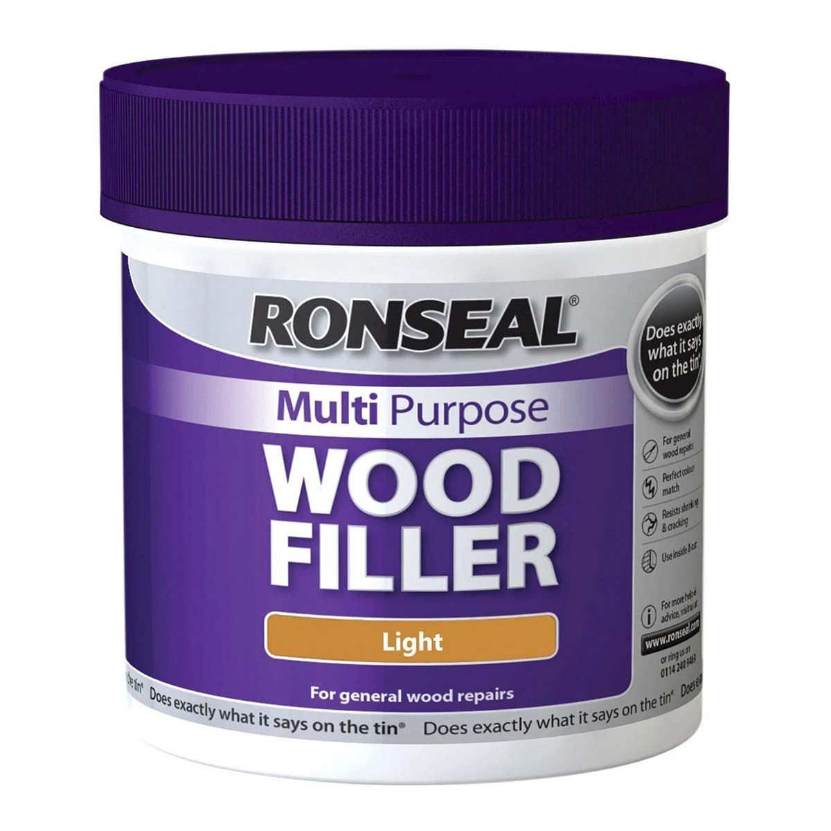 Ronseal Multi Purpose Wood Filler Light 250G (34746)